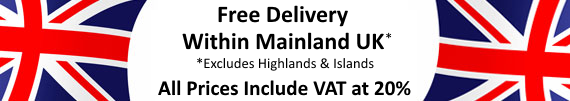 Free Delivery Within Mainland UK Excluding Highlands and Islands. All Prices Include VAT at 20%
